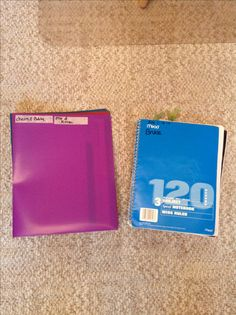 A folder and journal for each child, for sending home information to parents and guardians.