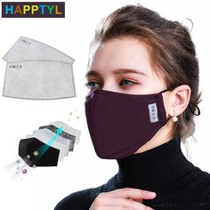 Mirror Cotton Mouth Mask Anti-dust Mask Activated Carbon Filter Windproof Mouth-muffle Bacteria Proof Flu Face Masks New - 3 Dimensional Marketing PTE LTD Different Nose Shapes, Flu Mask, The Face, Full Face, Activated Carbon Filter, Unisex, Diy Face Mask, Face Masks, Nose Mask