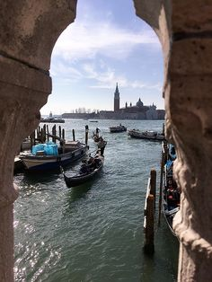 Venice view from the side of Doge`s Palace to San Giorgio Maggiore by Marina Usmanskaya. The busy traffic on the Venetian streets-canals MarinaUsmanskayaFineArtPhotography,Venice,Art For Home,FineArtPrints