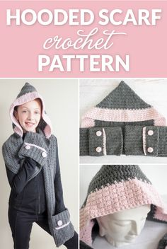 It's a hood! It's a scarf! It's both! Wear it any way you want. The choice is yours. #crochetscarf #crochetlove #croche #crochetpattern
