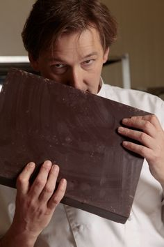 Pierre Marcolini - he comes bearing gifts...chocolate...big chocolate! Love at first bite!