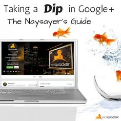 How to transition Google+ naysayer's across to this network.  Read more: http://webquacker.com.au/taking-a-dip-in-google-plus-the-naysayers-guide/