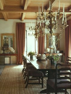 Find Out Why Michael S. Smith is Laughing All the Way to the Bank - laurel home | gorgeous warm dining room by Michael S. Smith