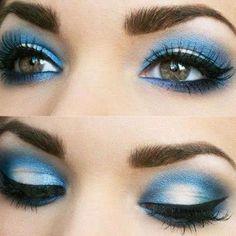 #blue #eyeshadow #makeup