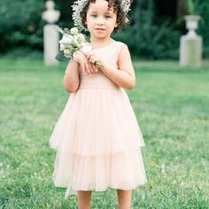Photo by New England & ADK Photographer in Glen Magna Farms. Flower girl dress and flower crown for wedding. Flower Girl Outfits, Massachusetts Wedding Venues, Flower Crown, Farms, Beautiful Dresses, England, Bridesmaid, Gowns, Wedding Dresses