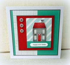 Stampin' Up!'s Holiday Home stamp set & Homemade Holiday Framelits Dies Card Making Inspiration, Making Ideas, Wedding Shower Cards, Housewarming Card, New Home Cards, Happy New Home, Winter Cards, Kids Cards, Scrapbook Cards