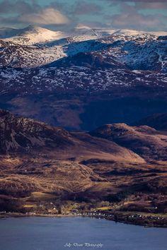 Loch Kishorn scenery from atop Bealach na Ba, Scotland