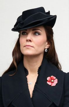 9 Nov 2014 - The Duchess of Cambridge attends the annual Remembrance Sunday Service at the Cenotaph on Whitehall