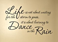 Take an action. Don't wait. If you wait or you wait the right moment, you don't achieve anything in your life? Why? Because there is not a right moment. #learning #danceintherain #notwaiting #takeaction