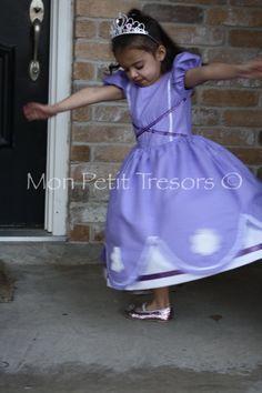 Princess Sophia the First Dress  Disney Dress by MonPetitTresors, $55.00