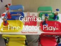 Gumball Fine Motor Play by Teach Preschool    Guidecraft    good craft ideas and tools