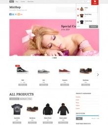 Minshop - Responsive E-commerce Template Wordpress. This theme features an Ajax shopping cart where buyers can add or remove items with a single click without reloading or redirecting the page. This simplifies and enhances the shopping experience. It also includes a large panel slider and a product slider where you can feature your products. In term of design, it is simple and minimimal that is suitable for any general shop. #template #wordpress #responsive #ecommerce #store