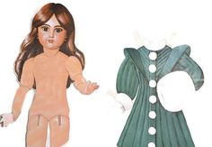 Fashion Vintage Paper Doll Set  Michelle  Six by PhotosbyMarilyn