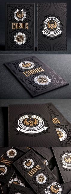 Dark-themed branding