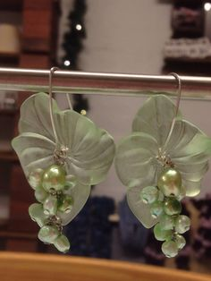 Lucite and fresh water pearls