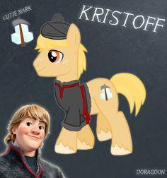 Kristoff Pony From Frozen, My Little Pony Frozen Crossover Art, Kristoff cutie mark
