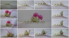 Çiçekli tülbent oyası yapılışı