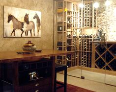 Contemporary Wine Cellar Design, Pictures, Remodel, Decor and Ideas - page 7 Wine Furniture, Wine Cellar Design, Plaster Walls, Wine Storage, Entertainment Room, Wall Treatments, Houzz, Decoration, Wall Design