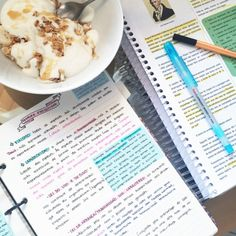 "getstudyblr: "" 06 . 07 . 2016 // back at it again with evolution + my absolutely fave thing to eat during study hours. If you have not tried it yet, it's basically banana, Greek yogurt, honey and granola. It tastes amazing!!! """