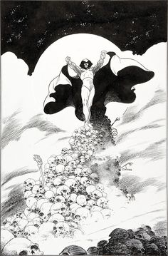 drawing dc comics Original cover art by Charles Vess from The Spectre Arte Dc Comics, Fun Comics, Batman Comics, Comic Book Artists, Comic Books Art, Character Drawing, Comic Character, The Spectre, Bristol Board