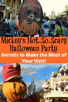 How to make the most of your visit to Walt Disney World's Mickey's Not So Scary Halloween Party- including MNSSHP Secrets! Disney Halloween Parties, Disney World Halloween, Disneyland Halloween, Disneyland Trip, Scary Halloween, Halloween Games, Halloween Christmas, Disney World Tips And Tricks, Disney Tips