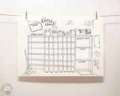 DOODLE corvée graphique / organisateur Enfants par SkyGoodies