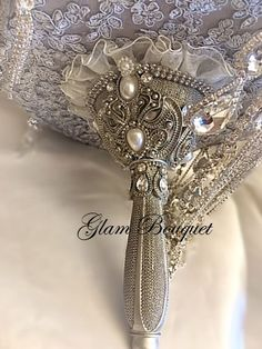 Vintage Gray and Silver Gatsby Themed Brooch Bouquet - $625 Full Price  - Deposit to place the order is $425.00 - Balance @ Completion of your bouquet is $200 Victorian Wedding Themes, Wedding Broom, Bridal Brooch Bouquet, Rhinestone Art, Gatsby Wedding, Dream Wedding, Vintage Glam, French Vintage, Crystal Brooch