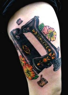 sewing machine tattoo. Craftster.org