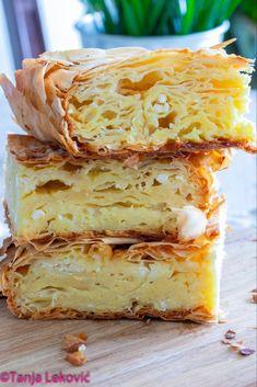 Gibanica Recipe, Pogaca Recipe, Kiflice Recipe, Bosnian Recipes, Croatian Recipes, Turkish Recipes, Bakery Recipes, Brunch Recipes, Cooking Recipes
