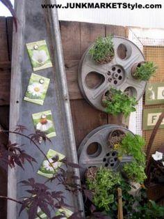 old movie reels repurposed