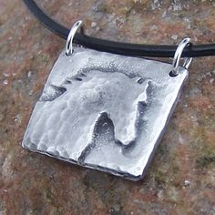 Horse Head Necklace Morning Mist Horse Jewelry horse by KDemARTe, $20.00
