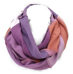 Hemp/Tencel and Hemp/Organic Cotton infinity scarves shades of purple by EarthboundCreations $35