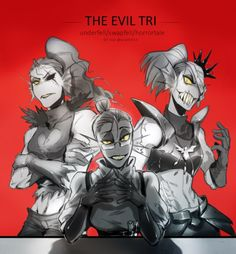 THE MIDDLE ONE LOOKS LIKE GRELL SUTCLIFFE FROM BLACK BUTLER