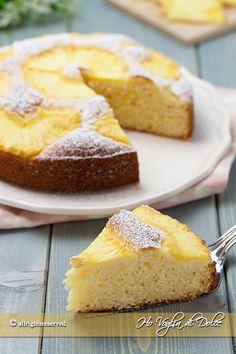 Torta ananas e cocco soffice ricetta | Ho Voglia di Dolce