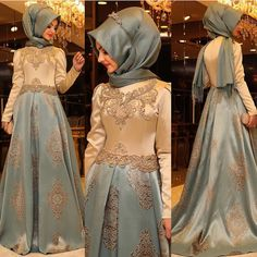 Arabic Evening Gowns Dresses Women Kaftan Dubai Hijab Evening Dresses Appliques Satin Long Sleeve Muslim Evening Dress $161