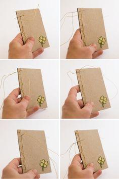 Book Binding Tutorial with Embroidered Cover - Flax & Twine Handmade Journals, Handmade Books, Handmade Rugs, Handmade Crafts, Bookbinding Tutorial, Notebook Covers, Journal Covers, Japanese Books, Handmade Headbands