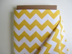 Yellow Chevrons by Riley Blake Designs 1 Yard by minimushrooms, $9.00 [This is the fabric I have all over my kitchen and dining room.]