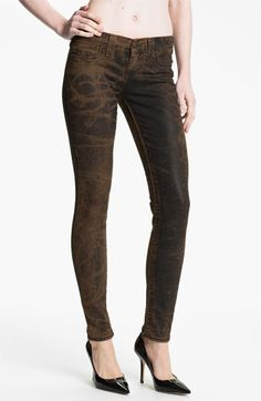 True Religion Brand Jeans 'Halle' Skinny Stretch Jeans (Black Vintage) | Nordstrom