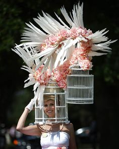 Wacky ascot fashion. click through to see more! (Peter Macdiarmid / Getty Images)