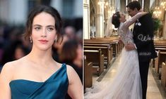 Downton Abbey star Jessica Brown Findlay unveils decadent cake after shock wedding | HELLO! Lady Sybil, Jessica Brown Findlay, Julian Fellowes, Pink Frosting, Surprise Wedding, Actress Jessica, Gorgeous Cakes, Royal Weddings, Downton Abbey