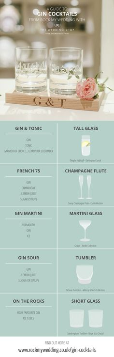 A Guide to Gin Cocktail Glassware with The Wedding Shop