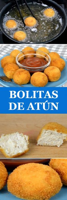 Make some Tuna Balls with cheese Easy, fast and delicious! Fish Recipes, Seafood Recipes, Cooking Recipes, Hispanic Dishes, Deli Food, Good Food, Yummy Food, Seafood Dishes, Tapas