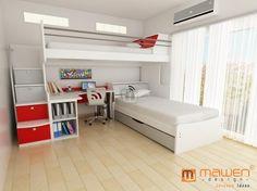 Cucheta XL con cama y escritorio en L!