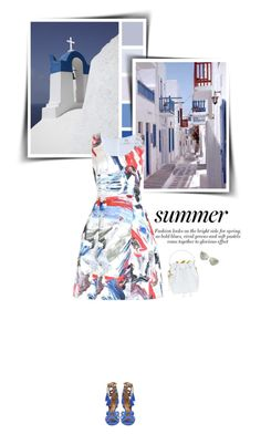 """""""Greek summer"""" by sophiek82 ❤ liked on Polyvore featuring Prabal Gurung, Sophie Hulme, Fendi, women's clothing, women's fashion, women, female, woman, misses and juniors"""