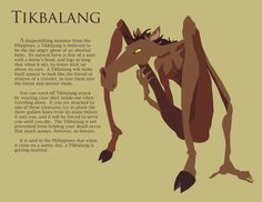 """Part of my """"I want to draw monsters"""" final project series in my Computer Graphics class. Filipino Art, Filipino Culture, Fantasy Creatures, Mythical Creatures, Philippine Mythology, Philippine Art, Philippines Culture, Hetalia Philippines, Legendary Monsters"""