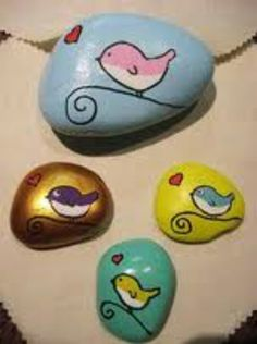 Painted pebble stone