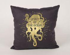 Spirit of the Ocean Cotton throw Pillow Cover  16x16 by Daneeyo