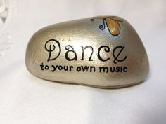 Best diy painted rocks with inspirational word and picture 17
