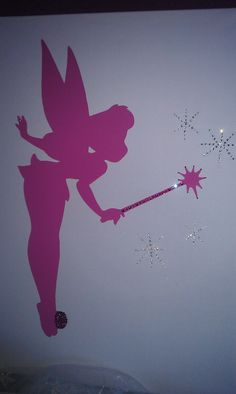 details about tinkerbell i believe in fairies wall sticker. Black Bedroom Furniture Sets. Home Design Ideas