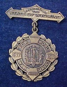 Named WW1 State of Wyoming War Service Medal 220th Engineers 1917 1918